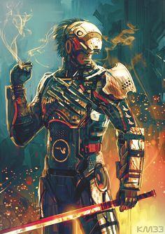 Mass Gear Rising by on DeviantArt - sekigan 3d Character, Character Concept, Concept Art, Character Design, Character Ideas, Mass Effect Characters, Fantasy Characters, Blade Runner, Metal Gear Solid Series