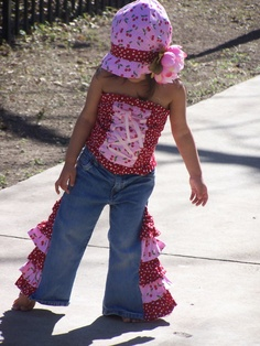Download How to Make Ruffled Gauchos Sewing Pattern   Made with Jeans Sewing Patterns for Download   YouCanMakeThis.com