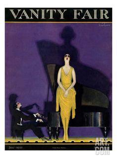 Vanity Fair Cover - June 1921 Regular Giclee Print by William Bolin at Art.com