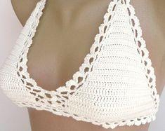 Crochet halter Crochet top Crochet crop top by senoAccessory
