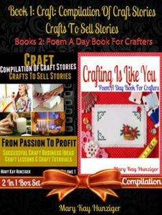 """Each story will cover a different craft technique & you will be introduced to an expert that is going to tell his or her own from passion to profit story. Throughout the story, the elite crafter will reveal his secret craft ingredients so that you can take these ingredients and use it for your own passion-profit story! Book 2: """"Crafting Is Like You"""" is an extremely fun, quick & easy to read little rhyming book about the amazing crafting Lifestyle."""