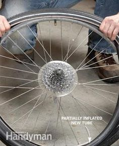 How to Change a Bicycle Tire: Changing a bicycle tire is simple to master and to teach your kids! | http://www.familyhandyman.com/automotive/how-to-change-a-bicycle-tire/view-all