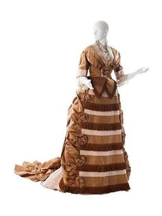 Afternoon Dress by Worth from MCNY Collections, 1872-74