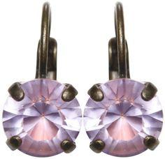 Ohrring EuroWire Black Jack violett Violett mit Hell-oranger Farbe SS 39