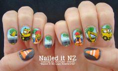 Nailed It NZ: Lego Nail Art | Roadworks http://www.naileditnz.com/2014/04/lego-nail-art-roadworks.html