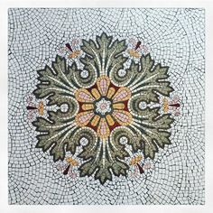 Why don't we have these in our homes anymore. My house could definitely use a mosaic.  #ihavethisthingwithfloors