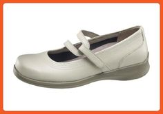 Apex Women's A302WX105 Shoe, Bone, 10.5 2E US - Flats for women (*Amazon Partner-Link)