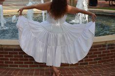 Summer Goddess Dress-White Boho Festival Dress by Linarain on Etsy