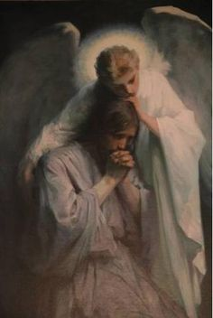 """The Agony In The Garden"" ""Now an Angel from Heaven appeared to Him, strengthening Him."" - Luke 22:43 From the website ""Dymphna's Road"""