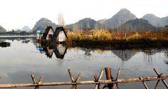 喀斯特田园冬日印象-普者黑湖畔风景