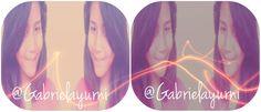 Follow me on twitter @Gabriela Yurni , ig: @Gabriela Yurni & @Gabrielayurnik