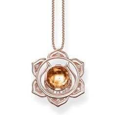 The #THOMASSABO miniature version of the Swadhisthana splenic chakra is crafted from 18k rose gold with gold citrine and white #diamonds and embodies the six-petalled lotus flower. This chakra symbolises sexuality and creativity.
