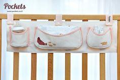 Bebek odalarının duvarlarına veya beşiğine asılabilecek, hem yer kaplamayan hem de fazlalıkları toplayacak organizerlar.
