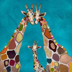 """""""Giraffe Family In Turquoise"""" Mini Framed Canvas from GreenBox Art + Culture. Size - Rustic frame color is predetermined. We've got wall art for all ages and interests. Browse our entire collection of Mini Framed Canvas Wall Art for the home! Framed Art Prints, Painting Prints, Canvas Prints, Painting Portraits, Painting Canvas, Canvas Frame, Canvas Wall Art, Canvas Canvas, Turquoise Wall Art"""