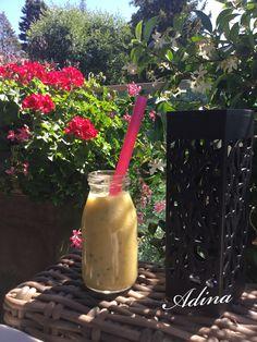 Smoothies, Mason Jars, Mugs, Tableware, Ideas, Cucumber, Pear, Drinks, Thermomix