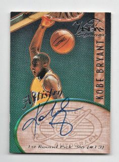 Kobe Bryant AUTO 1997 Score Board Artistry Visions Signings Lakers RC Autograph
