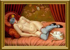 """C - CALASCIONE Colette - Usa - (page 2) - Cat's Paintings catspaintings-02.eklablog.com600 × 425Buscar por imagen Colette Calascione - """" Cockfight """" Colette Calascione - Buscar con Google"""