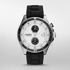 FOSSIL Watch,Wakefield Chronograph Black Silicone Watch CH2933 | WatchStation® Online Store