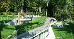 Rift in the Landscape Design of the Pool Pavilion - wave avenue