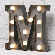 'M' LED Mini Carnival Light Battery Powered