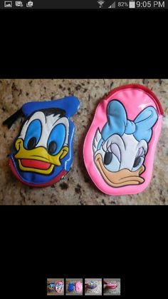 Vintage Donald and Daisy change purses.