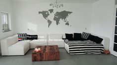 MapaWall Steel world map