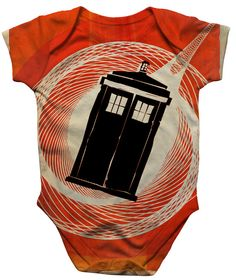 Doctor Who Onesie  Vertigo Who Sci Fi bodysuit for by Crowsmack, $20.00