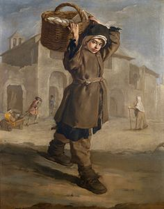 Ragazzo con Gerla by Giacomo Ceruti (Italian 1698 – 1767)