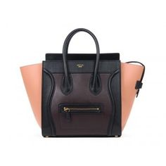 974c578f7d Celine Boston Luggage Leather Bags black with purplish red 2014 New