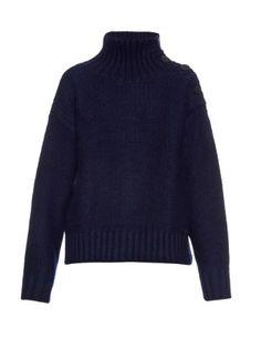 Button-shoulder roll-neck wool sweater | Y's By Yohji Yamamoto | MATCHESFASHION.COM UK