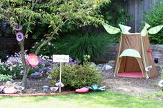 awesome Peter Pan birthday party... like pixie hollow idea..... but i dont have a flower garden. But now i just might have to! Hello to putting down cheap flowers than can be trashed by kids!