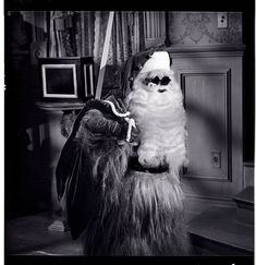 """Cousin It as Santa in """"Christmas with the Addams Family"""""""