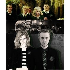 AU: Hermione is sorted into Slytherin and... ❤ liked on Polyvore featuring harry potter and pictures