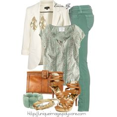 Mint Green with creams and golds! love