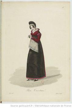 Tricoteuse from Georges-Jacques Gatine, Costumes d'ouvrières parisiennes, 1824, BNF Paris