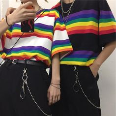 Trendy Aesthetic Clothing - Newest Collections, Trendy Apparel, OFF SALE. Tumblr Outfits, Grunge Outfits, Fashion Outfits, Girl Fashion, Swaggy Outfits, Cute Casual Outfits, Mode Emo, Rainbow Outfit, Rainbow Clothes