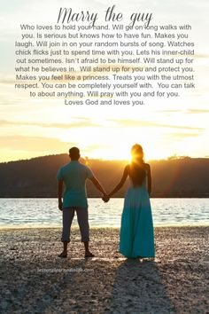 Love - Lessons Learned in Life | Marry the guy who…