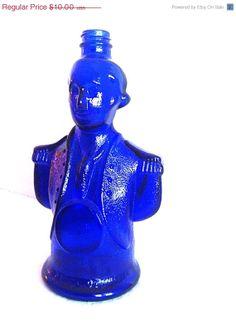 ON SALE 50 OFF Vintage Cobalt Blue Bottle by NonabelleVintage, $5.00