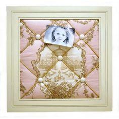 English Rose Fabric Memo Board