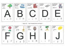 Apprentissage de la lecture : Jeu de cartes avec les lettres de l'alphabet