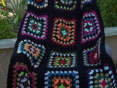 granny square crochet blanket afghan by DonnasPinsandNeedles