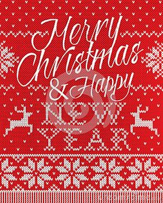 Merry Christmas and happy new year style seamless