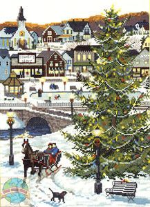 cross stitch village | Cross Stitch Kit Winter Victorian Christmas Village | eBay