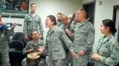 Adele, Jay-Z and Journey (Covers) by Deployed Airmen, via YouTube.