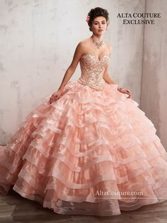 2-Piece Ruffled Quinceanera Dress by Mary's Bridal Alta Couture 4T190