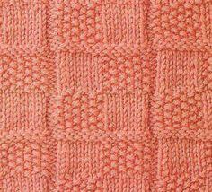 checkered knitting stithces
