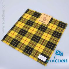 MacLeod Tartan Pocket Square. Free Worldwide Shipping Available