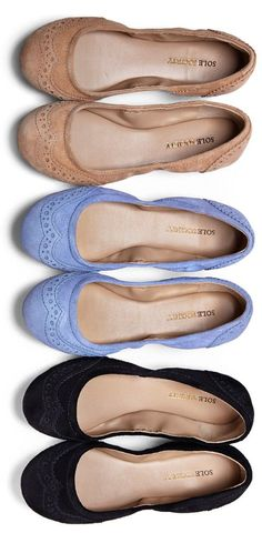 Comfortable & Cute Flats in Great Colors //