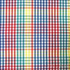 Tecido Patchwork Coats Fio Tinto  2400011 Cor-16013 Xadrez Colorido/Azul c/ 50 cmX1,40cm
