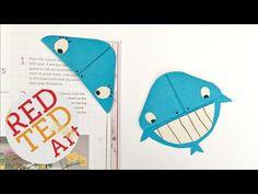 Easy Whale Bookmark Corner DIY - YouTube